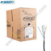 142725-4 AMP CABLE UTP CAT.6 4Px23 AWG CM Gris - Azul