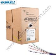 6-1427200-4 AMP CABLE UTP CAT. 6 CHAQUETA CMR Gris - Azul