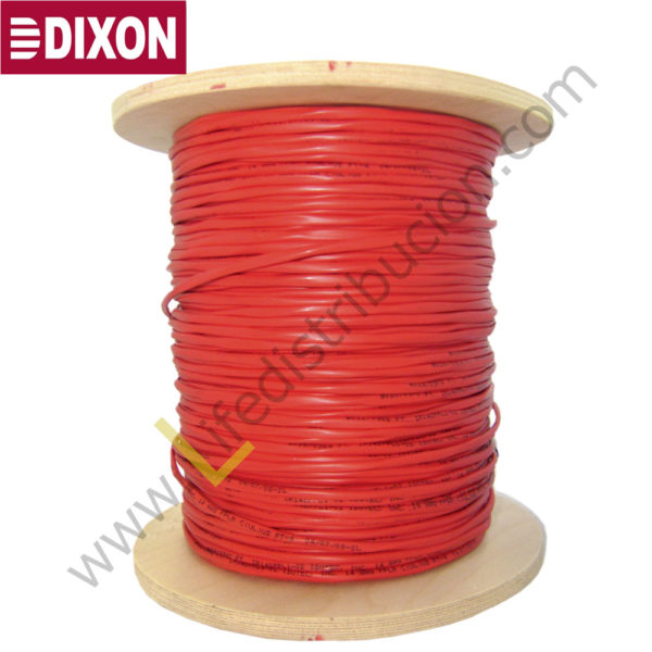 9010 DIXON CABLE CONTRA INCENDIO 2×18 AWG LSZH Rojo 1