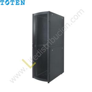 G4.6827.9101 27RU (Alto 1.40 Ancho 0.60 Prof. 0.80) puerta delantera de vidrio y posterior microperforada