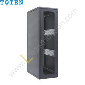 G4.6837.9101 37RU (Alto 1.80 Ancho 0.60 Prof. 0.80) puerta delantera de vidrio y posterior microperforada