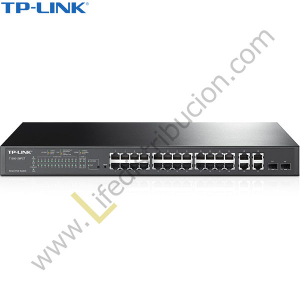 T1500-28PCT TP-LINK 24PORT 10/100MBPS+4PORT GIGABIT POE+SMARTSWITCJ 1