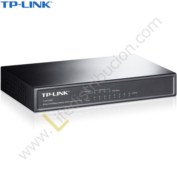TL-SF1008P TP-LINK SWITCH 8 PUERTOS 10/100 MBPS 1