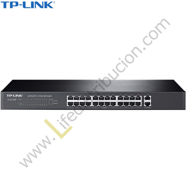 TL-SL1226 TP-LINK SWITCH 24P 10/100 MBPS + 2P 10/100/1000 MBPS 1