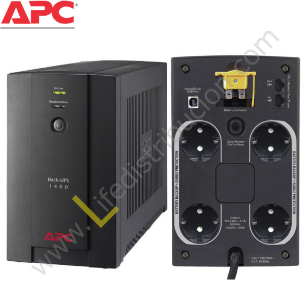BX1400U-MS BX1400U-MS 1400VA 230V, AVR UNIVERSAL AND IEC SOCKETS 1
