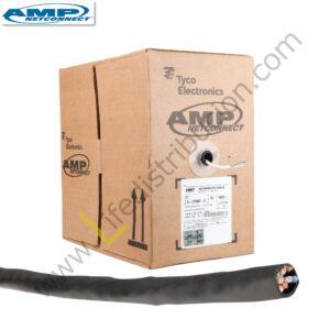 1-1427234-0 AMP CABLE UTP CAT.5E 4Px24AWG MULTIFILAR Negro