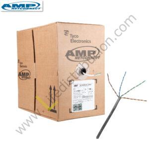 6-219590-4 AMP CABLE UTP CAT. 5E 4Px24AWG CM Gris - Azul
