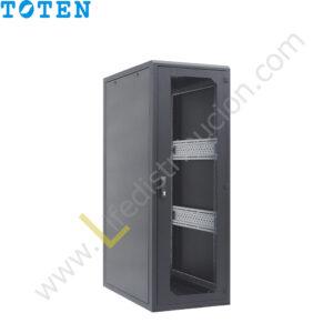 G4.6822.9101 22RU (Alto 1.17 Ancho 0.60 Prof. 0.80) puerta delantera de vidrio y posterior microperforada