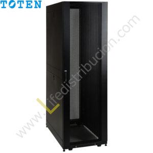 G4.8042.9101 42RU (Alto 2.06 Ancho 0.80 Prof. 1.00) puerta delantera de vidrio y posterior doble microperforada